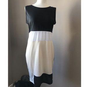 Cute color block dress S